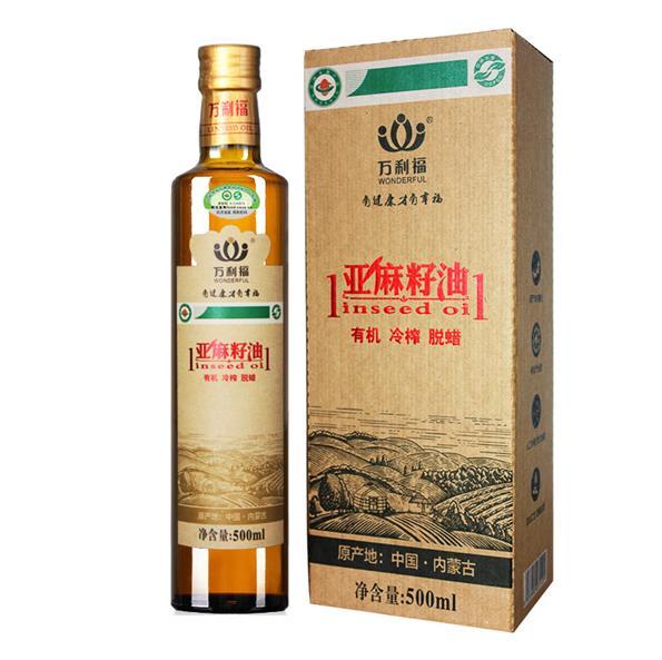 500ml有機冷榨(zha)亞麻籽油